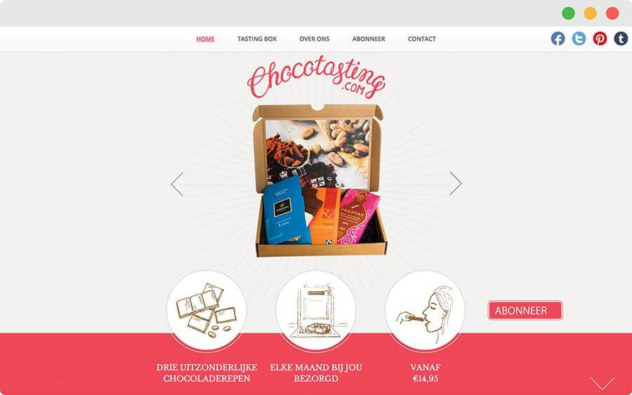 Website in chocolade sferen